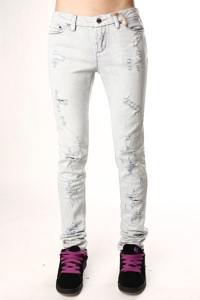 Джинсы узкие женские Insight Beanpole Skinny Stretch Ripped Bleach Blue