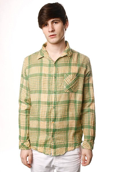 Рубашка Insight Overkill Shirt Psyche Green рубашка женская insight napier shirt 70 s mid blue