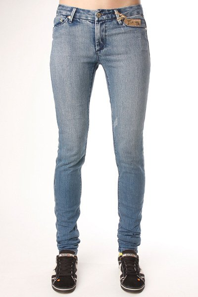 Джинсы узкие женские Insight Beanpole Skinny Stretch Mid Blue Stone рубашка женская insight napier shirt 70 s mid blue