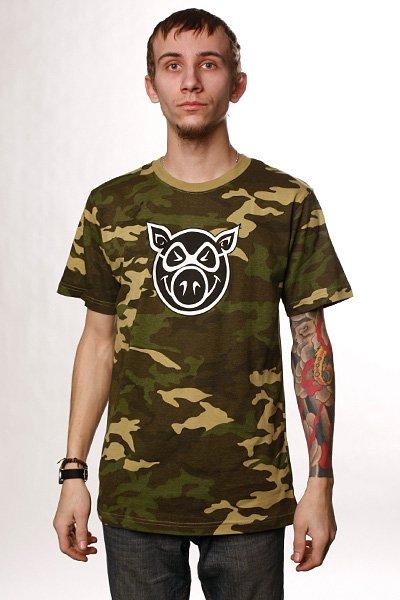 Футболка Pig Camo Pighead Camo<br><br>Цвет: бежевый,камуфляжный<br>Тип: Футболка<br>Возраст: Взрослый<br>Пол: Мужской