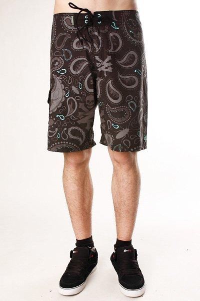 Пляжные мужские шорты Zoo York Bandana Black<br><br>Цвет: черный<br>Тип: Шорты<br>Возраст: Взрослый<br>Пол: Мужской