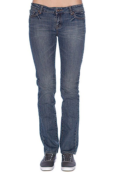 Джинсы узкие женские Zoo York Straight Leg Fit Denim Med Sand Wash