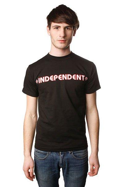 Футболка Independent Bar/Cross Black<br><br>Цвет: черный<br>Тип: Футболка<br>Возраст: Взрослый<br>Пол: Мужской