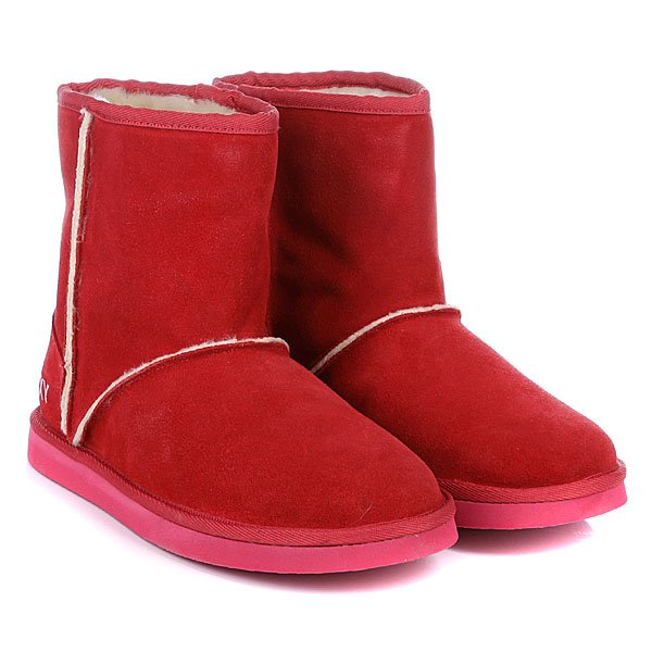 фото Женские угги Roxy Low Tess Bright Pink, красные