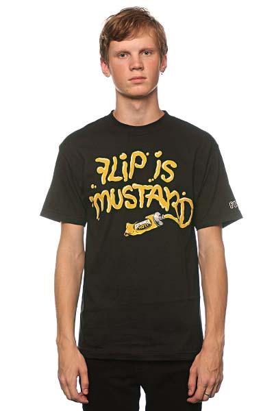 Футболка Flip Mustard Black<br><br>Цвет: черный<br>Тип: Футболка<br>Возраст: Взрослый<br>Пол: Мужской