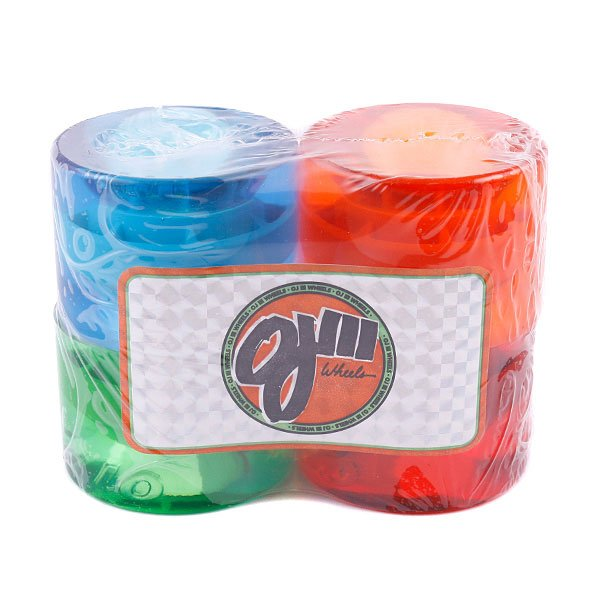 Колеса для скейтборда Oj III Jolly Ranch Juice Trance Red/Blue/Green/Orange 78A 60 mmЦена указана за комплект из 4-х колес<br><br>Тип: Колеса для лонгборда