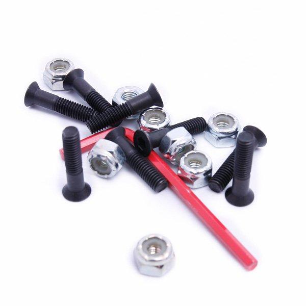 Винты для скейтборда Element Rations Hex Allen 1Размер: 1 Тип винтов: Для шестигранного ключа  Цена указана за 1 комплект из 8 винтов и 8 гаек и 1 шестигранного ключа<br><br>Тип: Винты для скейтборда