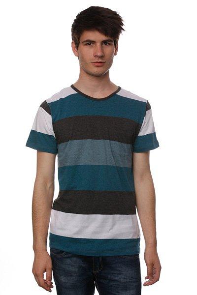 Футболка Ezekiel Stanfield Knit Blue<br><br>Цвет: зеленый,черный<br>Тип: Футболка<br>Возраст: Взрослый<br>Пол: Мужской
