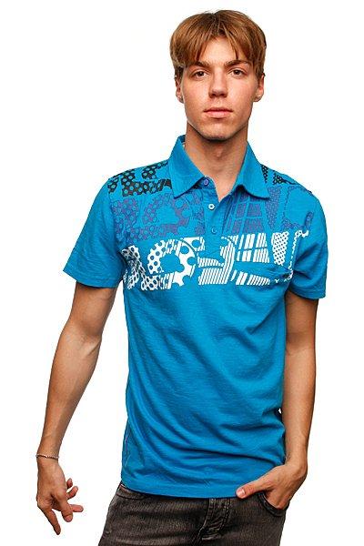 Футболка Поло Globe Motown Polo Ocean Blue<br><br>Цвет: синий<br>Тип: Футболка<br>Возраст: Взрослый<br>Пол: Мужской