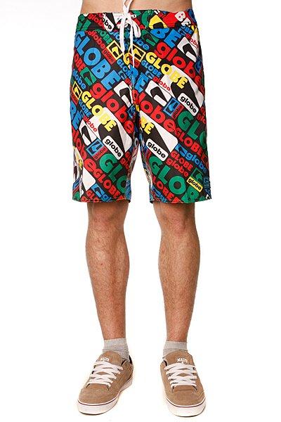 Пляжные мужские шорты Globe Matrix Boardie Black Primary<br><br>Цвет: красный,синий<br>Тип: Шорты пляжные<br>Возраст: Взрослый<br>Пол: Мужской