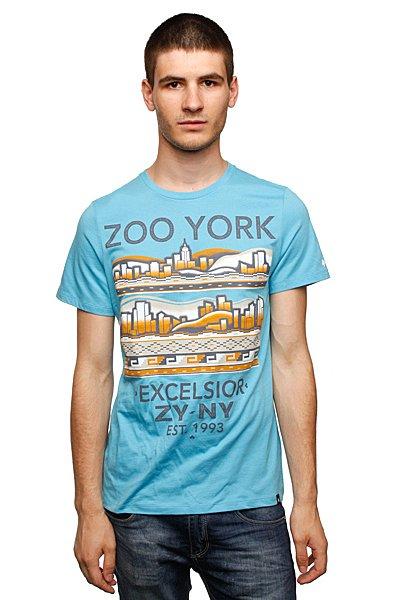 Футболка Zoo York Azeteca Blue Jay<br><br>Цвет: голубой<br>Тип: Футболка<br>Возраст: Взрослый<br>Пол: Мужской