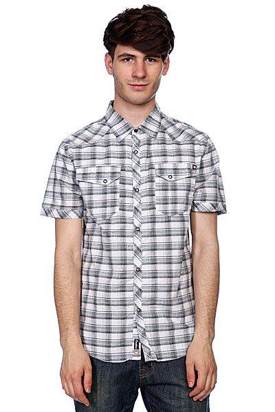 Рубашка в клетку Zoo York Hunters Point White<br><br>Цвет: черный,белый<br>Тип: Рубашка в клетку<br>Возраст: Взрослый<br>Пол: Мужской