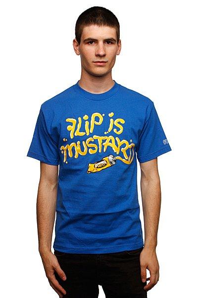 Футболка Flip Mustard Royal Blue<br><br>Цвет: голубой<br>Тип: Футболка<br>Возраст: Взрослый<br>Пол: Мужской