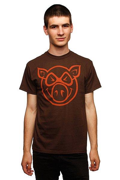 Футболка Pig Basic Slimfit Brown<br><br>Цвет: коричневый<br>Тип: Футболка<br>Возраст: Взрослый<br>Пол: Мужской