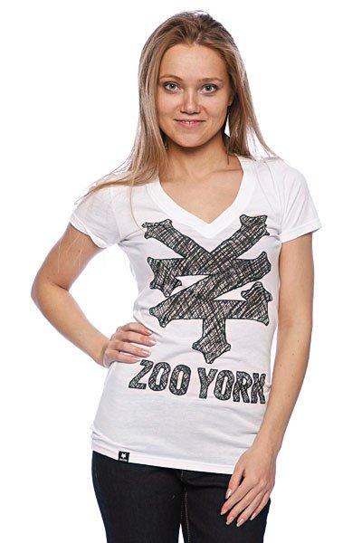 Футболка женская Zoo York Sketchpad Tee White<br><br>Цвет: белый<br>Тип: Футболка<br>Возраст: Взрослый<br>Пол: Женский
