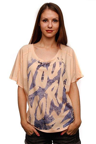Футболка женская Zoo York Tail Top Apricot<br><br>Цвет: розовый<br>Тип: Футболка<br>Возраст: Взрослый<br>Пол: Женский