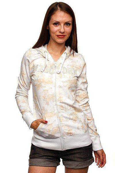 Толстовка классическая женская Zoo York Basics Hood Splotchy Print<br><br>Цвет: белый<br>Тип: Толстовка классическая<br>Возраст: Взрослый<br>Пол: Женский