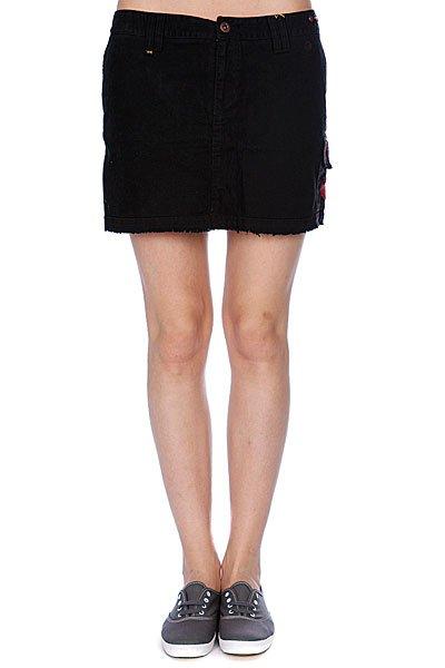 Юбка женская Zoo York Major Mini Black<br><br>Цвет: черный<br>Тип: Юбка<br>Возраст: Взрослый<br>Пол: Женский
