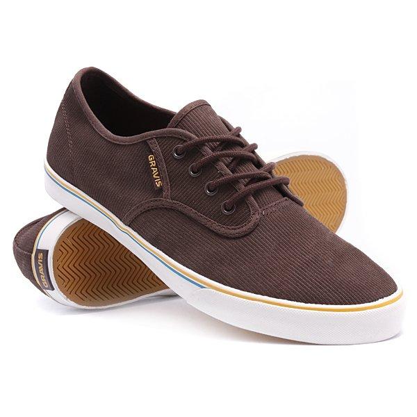 Кеды кроссовки Gravis Slymz Suede Mns Bracken<br><br>Цвет: коричневый<br>Тип: Кеды низкие<br>Возраст: Взрослый<br>Пол: Мужской