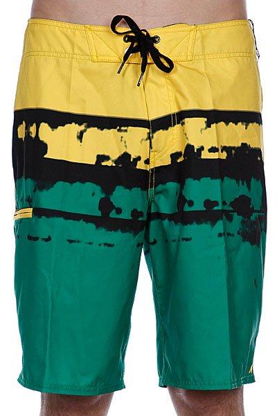 Пляжные мужские шорты Analog Dorado Brdshort Green<br><br>Цвет: желтый,зеленый<br>Тип: Шорты пляжные<br>Возраст: Взрослый<br>Пол: Мужской