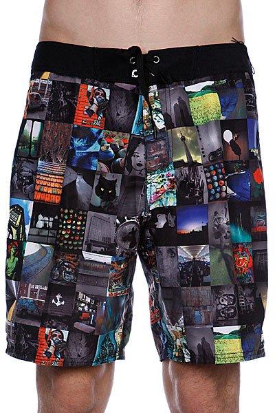 Пляжные мужские шорты Analog Photobooth Brdshort True Black<br><br>Цвет: черный,серый<br>Тип: Шорты пляжные<br>Возраст: Взрослый<br>Пол: Мужской