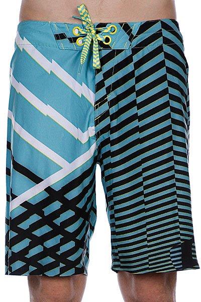 Пляжные мужские шорты Oakley Faster Boardshort Aqua<br><br>Цвет: черный,голубой<br>Тип: Шорты пляжные<br>Возраст: Взрослый<br>Пол: Мужской