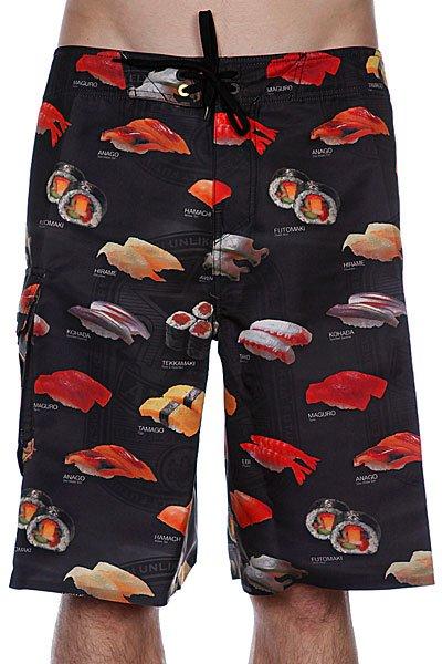 Пляжные мужские шорты Analog Cmbt Sushi3 Brdshort True Black<br><br>Цвет: черный<br>Тип: Шорты пляжные<br>Возраст: Взрослый<br>Пол: Мужской