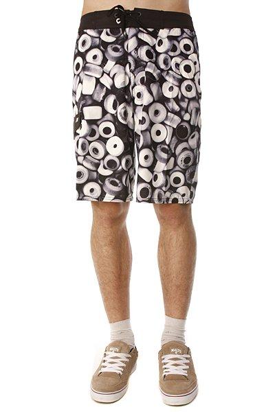 Пляжные мужские шорты Analog Urethane Brdshort Grey<br><br>Цвет: черный,белый<br>Тип: Шорты пляжные<br>Возраст: Взрослый<br>Пол: Мужской