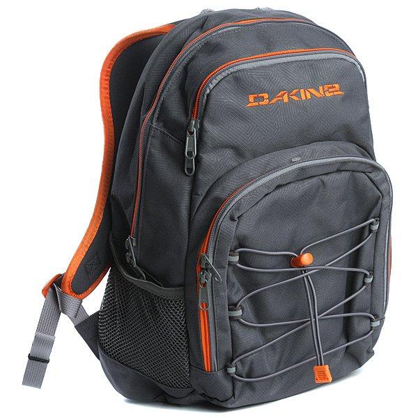 Рюкзак городской Dakine Scooler Pack Charcoal / OrangeScooler одна из самых удачных моделей, подходящая как для школьников, так и для студентов. Данная модель имеет сумочку для еды, что удобно для любого школьника. Отдел для очков. Отражатели на внешней поверхности рюкзака для безопасности в темное время суток. Внешний отдел на молнии. И специальный кармашек для идентификационной карточки.<br><br>Цвет: серый<br>Тип: Рюкзак городской<br>Возраст: Взрослый
