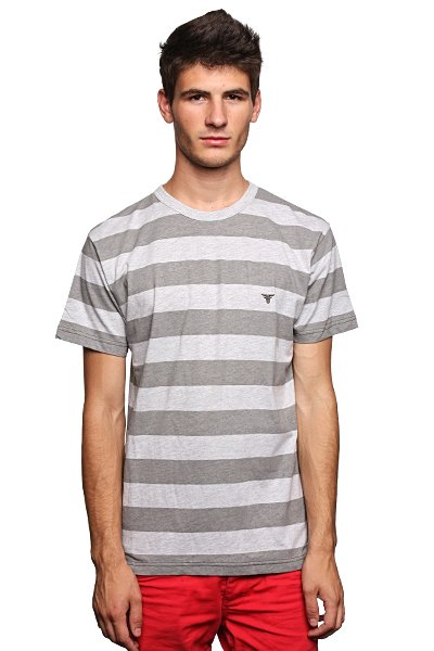 Футболка Fallen Striped Custom Knit Crew Heather Grey/Grey