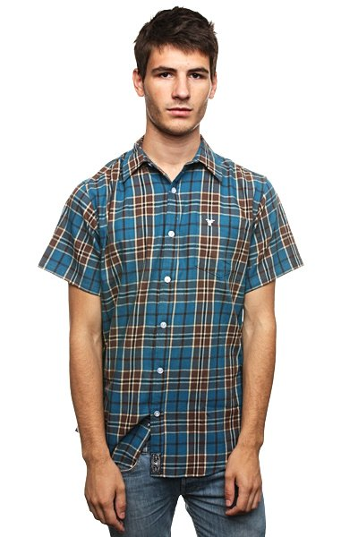Рубашка в клетку Fallen Richmond Button Up Bahama/Brown