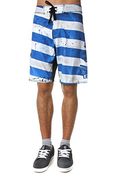 Пляжные мужские шорты Globe Morello 21 Boardshort Indigo<br><br>Цвет: синий,белый<br>Тип: Шорты пляжные<br>Возраст: Взрослый<br>Пол: Мужской