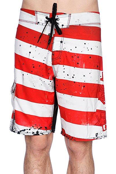 Пляжные мужские шорты Globe Morello 21 Boardshort Red<br><br>Цвет: белый,красный<br>Тип: Шорты пляжные<br>Возраст: Взрослый<br>Пол: Мужской