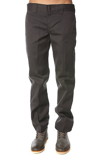 где купить Брюки Dickies Slim Straight Work Pant Charcoal Grey дешево