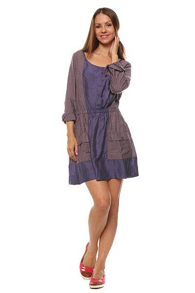 Платье женское Insight Raggedy Anne Dress Dob PurpleПовседневное молодежное платье для любительниц романтичного стиля.Характеристики:Свободный крой. Рукав 7\8.Два накладных кармана. Пояс на резинке. Декоративные пуговицы на горловине.<br><br>Цвет: фиолетовый<br>Тип: Платье<br>Возраст: Взрослый<br>Пол: Женский