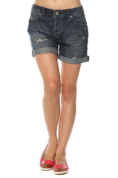 Шорты джинсовые женские Insight Trampin Short Indigo Trash<br><br>Цвет: синий<br>Тип: Шорты джинсовые<br>Возраст: Взрослый<br>Пол: Женский