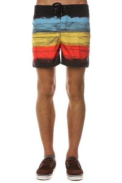 Пляжные мужские шорты Insight Retro Bro Bunker Black<br><br>Цвет: черный,голубой,желтый<br>Тип: Шорты пляжные<br>Возраст: Взрослый<br>Пол: Мужской