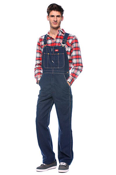 Комбинезон Dickies Duck Bib Overall Washed Indigo Denim