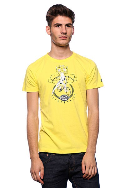 Футболка Dickies Hot Mens Fitted T-Shirt Canary