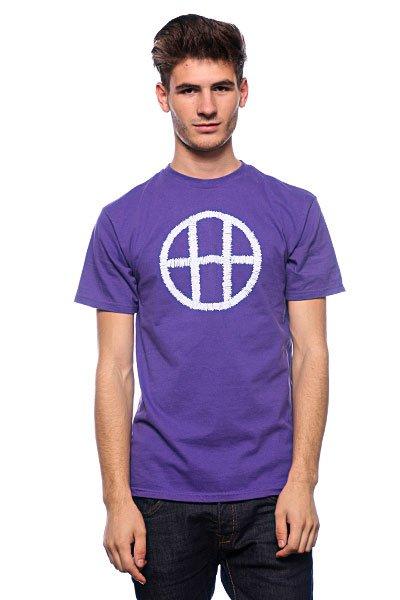 Футболка Huf Stitch Circle H Purple huf футболка huf hail mary pocket tee royal