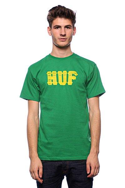 Футболка Huf Stacked Classic Logo Kelly huf футболка huf hail mary pocket tee royal