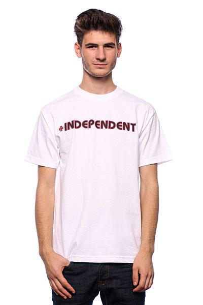 Футболка Independent Bar/Cross White<br><br>Цвет: белый<br>Тип: Футболка<br>Возраст: Взрослый<br>Пол: Мужской