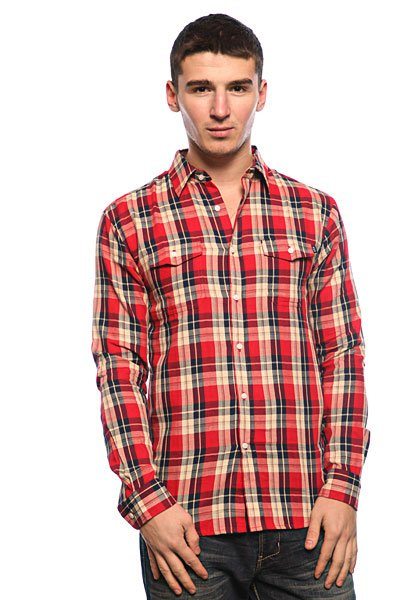 Рубашка в клетку Huf Paddington Red<br><br>Цвет: красный,синий<br>Тип: Рубашка в клетку<br>Возраст: Взрослый<br>Пол: Мужской