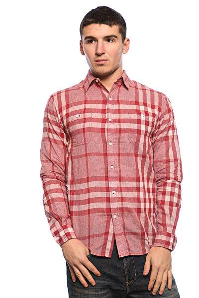 Рубашка в клетку Huf Basset Red<br><br>Цвет: красный,серый<br>Тип: Рубашка в клетку<br>Возраст: Взрослый<br>Пол: Мужской