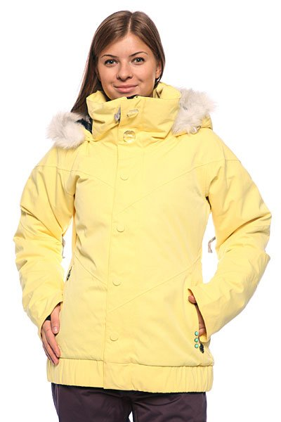 Куртка женская Oakley Gb Insulated Jacket Ember YellowТехнические характеристики:  про-модель сноубордистки Гретхен Блейлер (Gretchen Bleiler)  ткань: 100% полиэстер  утепление: 80/20 утиный пух  мембрана: 15 000 мм/20 000 гр  все швы проклеены водоотталкивающей лентой  вентиляционные отверстия подмышками на молнии  фиксированный капюшон  искусственная меховая опушка (снимается)   съемная снегозащитная юбка  внутренние манжеты с отверстием для большого пальца  декоративные пуговицы  фасон: премиальный (premium fit)Технические характеристики: Утепление – 80 гр тело, 20 гр рукава.  Мембрана: водонепроницаемость/испарение – 15,000 мм/ 20,000 гр.  Фиксированный капюшон.  Вентиляционные отверстия подмышками на молнии. Все швы проклеены водонепроницаемой лентой.  Фиксирующие и согревающие вставки для запястьев (внутренние манжеты с прорезями для больших пальцев).  Карман для медиа-плеера. Два кармана для рук.  Фасон – премиум.<br><br>Цвет: желтый<br>Тип: Куртка утепленная<br>Возраст: Взрослый<br>Пол: Женский