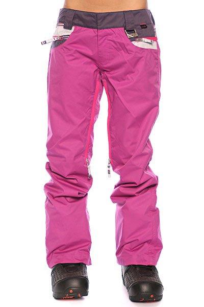 Штаны сноубордические женские Oakley New Karing Pant Lavender/Purple Stripe/Purple