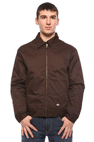 Ветровка Dickies Lined Eisenhower Jacket Dark Brown dickies рубашка утепленная dickies ryker shirt jacket fiery red