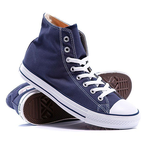 Кеды кроссовки высокие Converse Chuck Taylor As Core Unisex Canvas Hi M9622 Navy