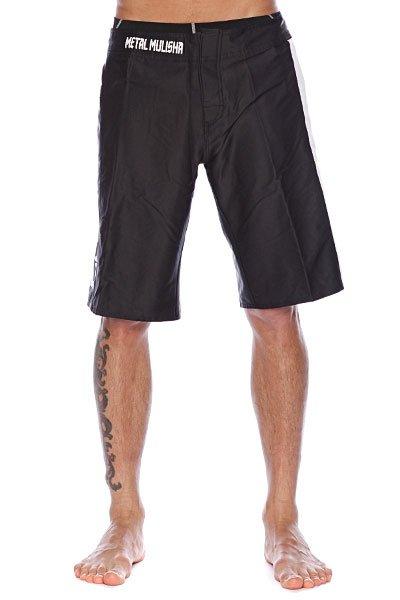 Пляжные мужские шорты Metal Mulisha Strategize Black<br><br>Цвет: черный<br>Тип: Шорты пляжные<br>Возраст: Взрослый<br>Пол: Мужской