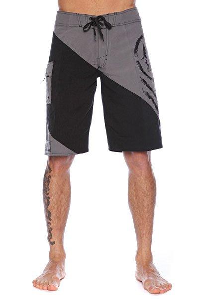 Пляжные мужские шорты Metal Mulisha Chevee Charcoal<br><br>Цвет: серый,черный<br>Тип: Шорты пляжные<br>Возраст: Взрослый<br>Пол: Мужской